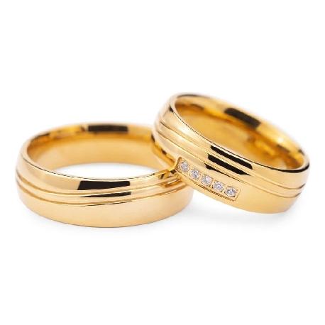 """Teemantidega abielusõrmused """"VKA 128"""""""