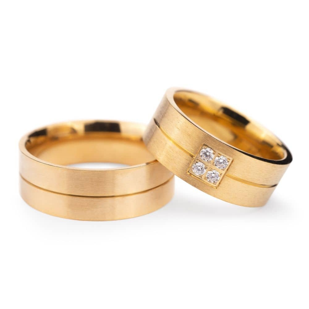 "Golden wedding rings with diamonds ""VMA 130"""