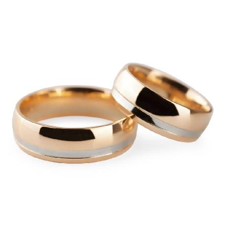 """Kullast abielusõrmused """"VKA 313"""""""