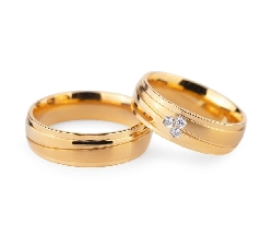 "Golden wedding rings with diamonds ""VKA 132"""