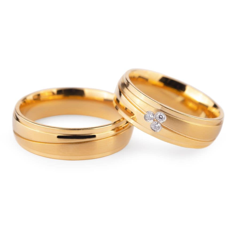 """Teemantidega abielusõrmused """"VKA 132"""""""