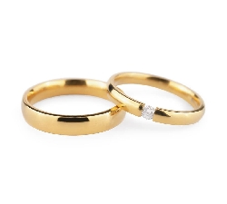 "Golden wedding rings with diamonds ""VKA 133"""
