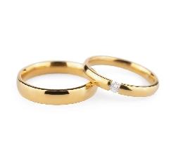 """Auksiniai vestuviniai žiedai """"VKA133"""""""