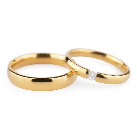 "Golden wedding rings with diamonds ""VKA 133"""