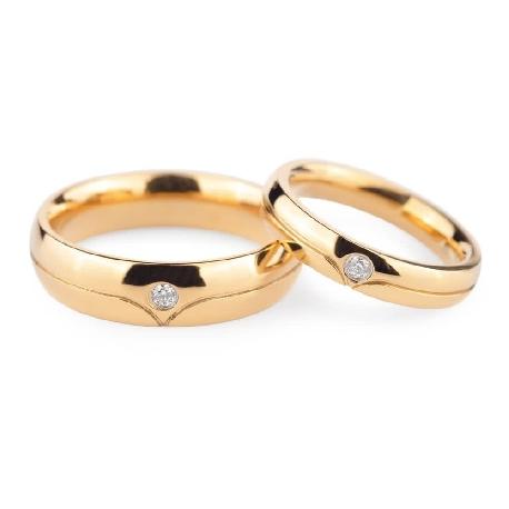 """Teemantidega abielusõrmused """"VKA 134"""""""