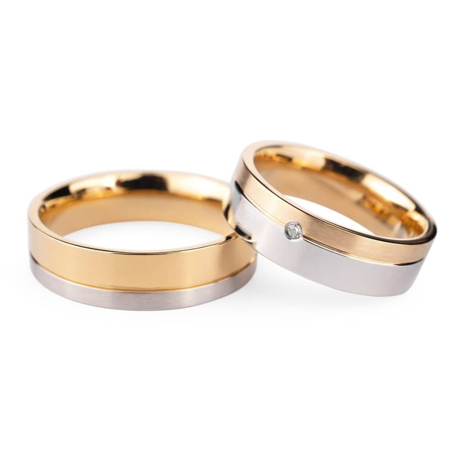 """Teemantidega abielusõrmused """"VMA 135"""""""
