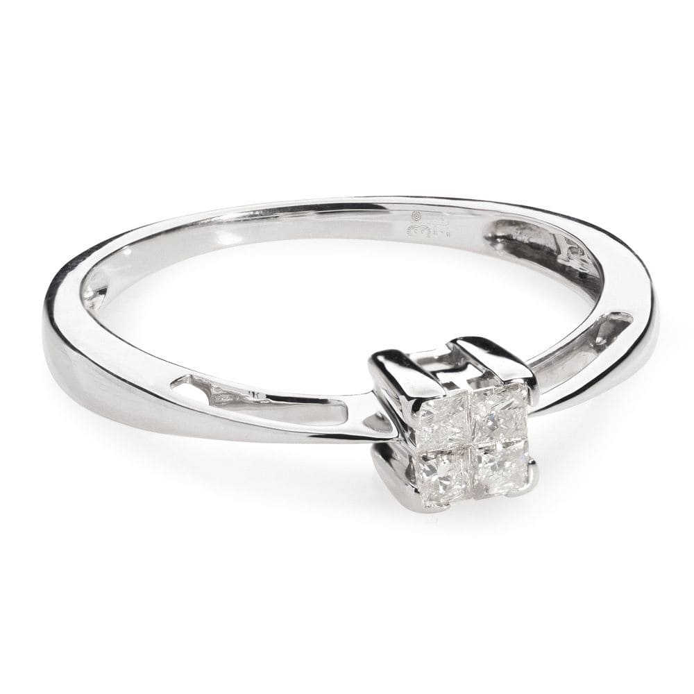 """Engagement ring with diamonds """"Princesses II"""""""