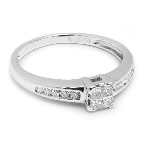 """Teemantidega kihlasõrmus """"Printsessid 475"""""""