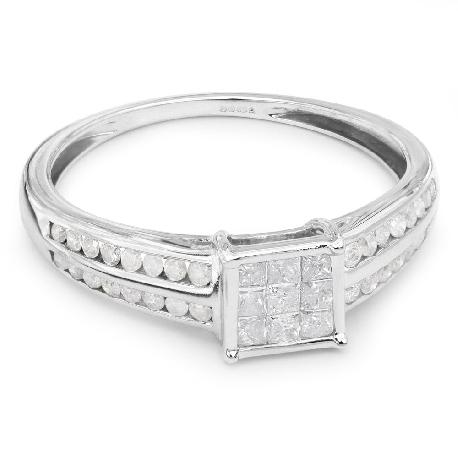 """Teemantidega kihlasõrmus """"Printsessid 6"""""""
