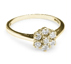"Engagment ring with brilliants ""Diamond flower 7"""