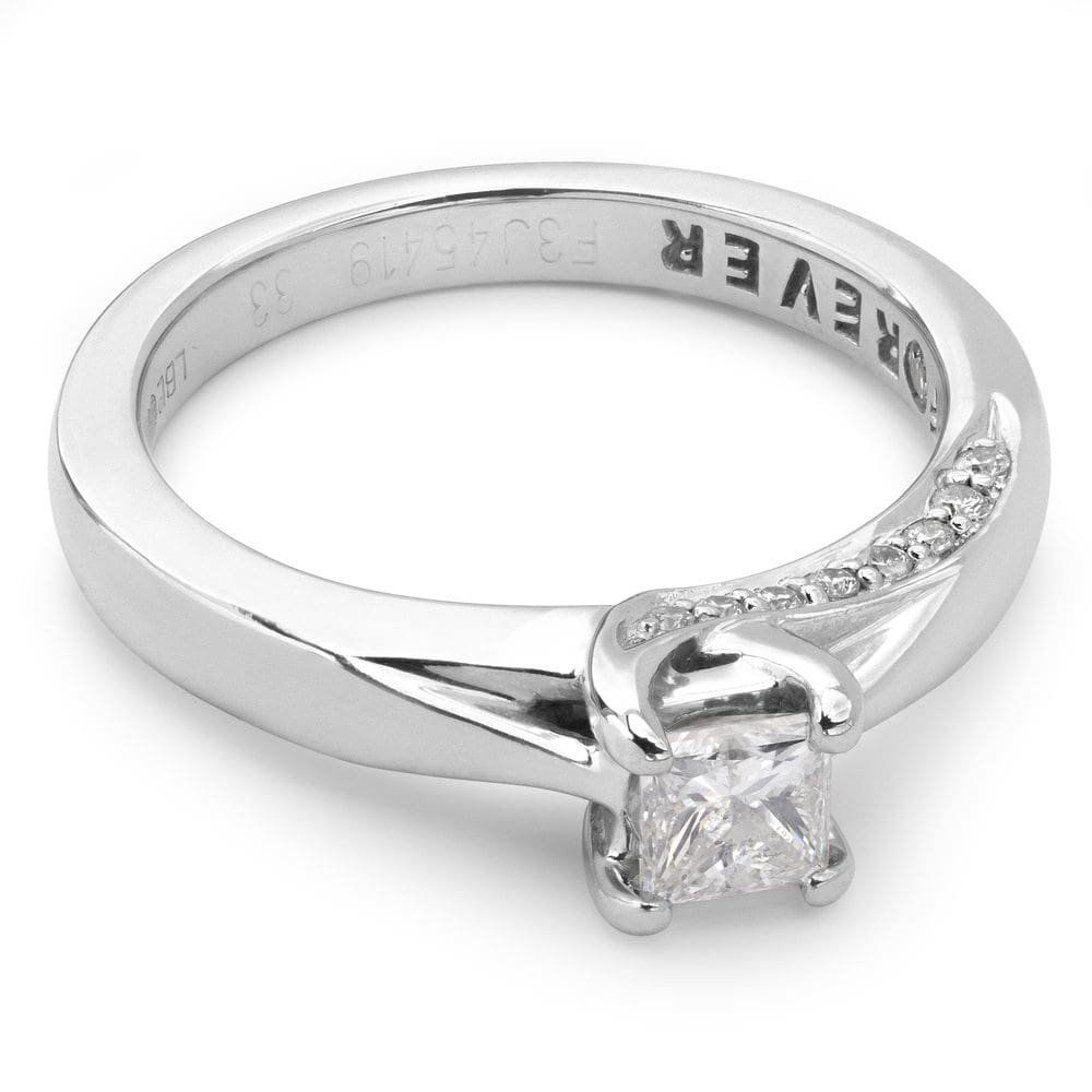 """Engagement ring with diamonds """"Princess 4"""""""