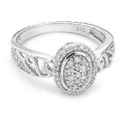 """Auksinis žiedas su Deimantais """"Karūna 3"""""""