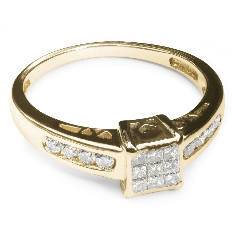 """Teemantidega kihlasõrmus """"Printsessid 4"""""""
