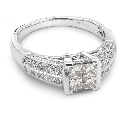 """Sužadėtuvių žiedas su Deimantais """"Princesės 5"""""""