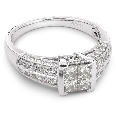 """Auksinis žiedas su Deimantais """"Princesės 6"""" et"""