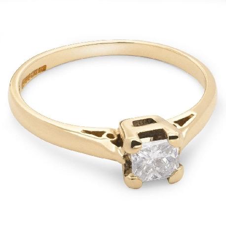 "Engagement ring with diamond ""Princess 7"""