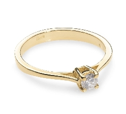 """Engagement ring with brilliant """"Strength 19"""""""