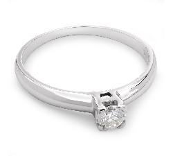 """Auksinis žiedas su Briliantu """"Tvirtybė 24"""""""