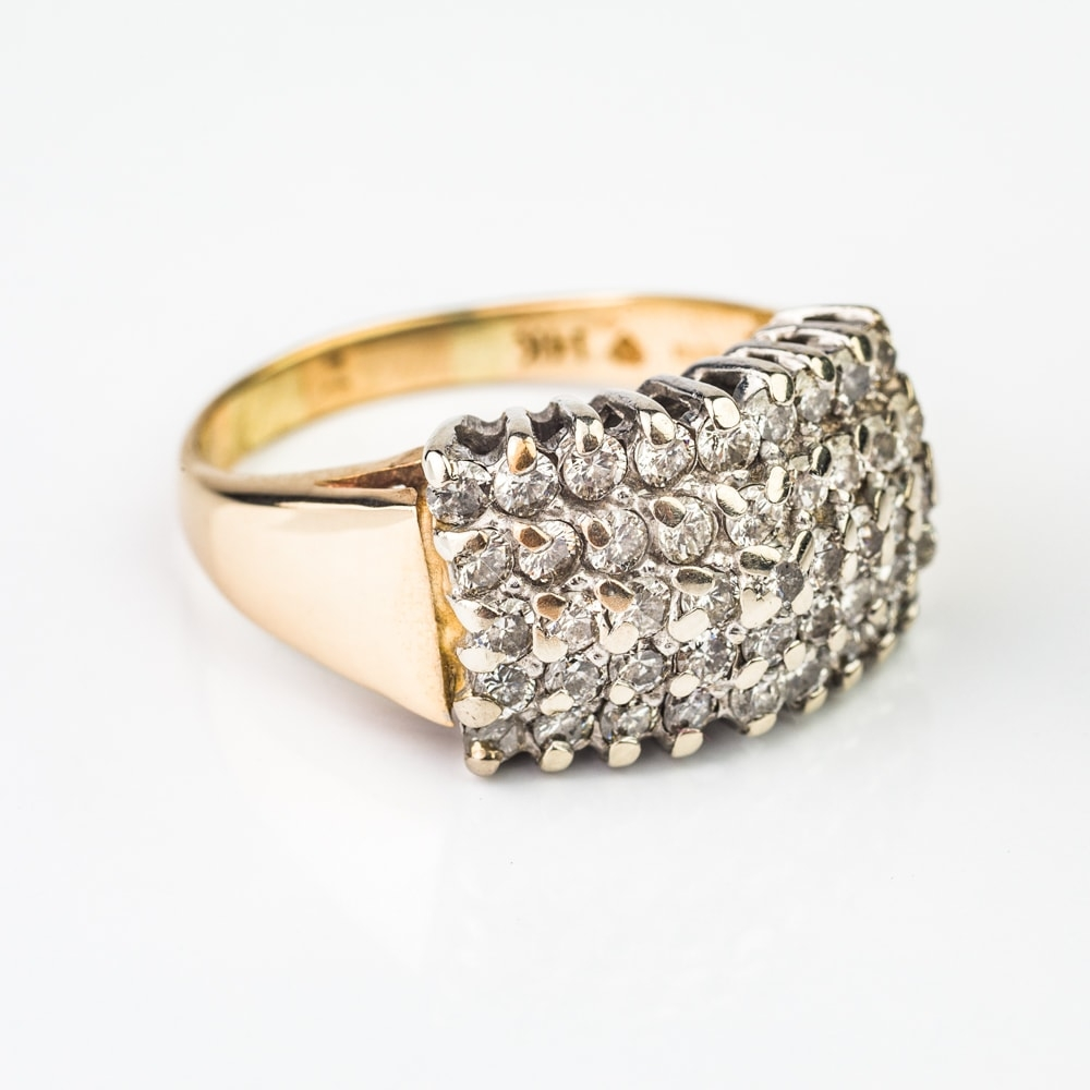 """Gold ring with brilliants """"Bouquet of diamonds 4"""""""