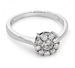 """Auksinis žiedas su Briliantais """"Briliantinė Gėlė 10"""""""