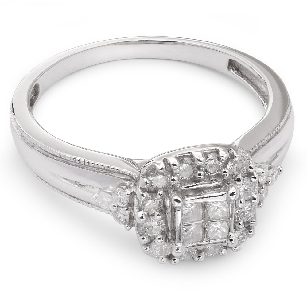 "Engagement ring with diamonds ""Bouquet of diamonds 2"""