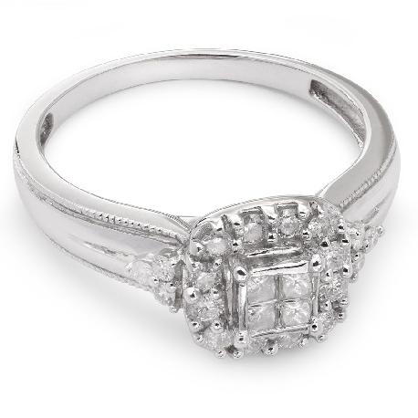 """Teemantidega kihlasõrmus """"Briljantide kimp 2"""""""