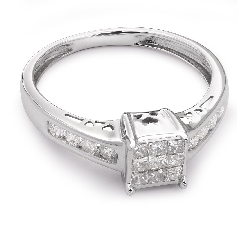 "Engagement ring with diamonds ""Princesses 13"""