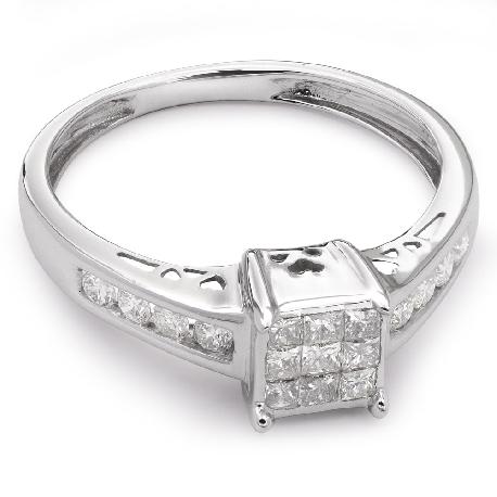"""Teemantidega kihlasõrmus """"Printsessid 13"""""""