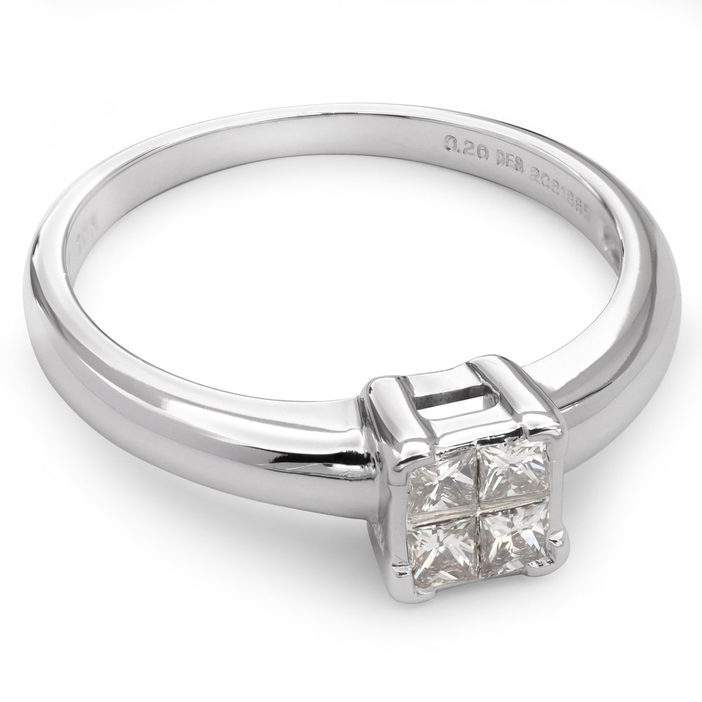 "Engagement ring with diamonds ""Princesses 8"""