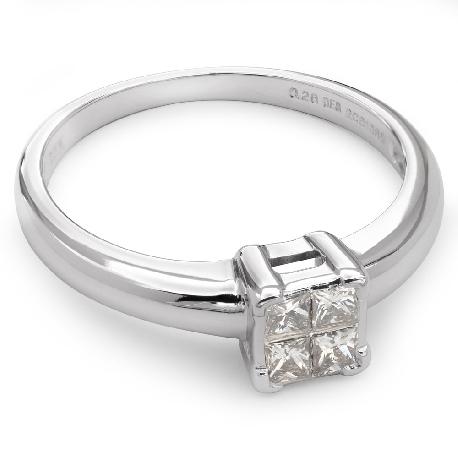 """Teemantidega kihlasõrmus """"Printsessid 8"""""""