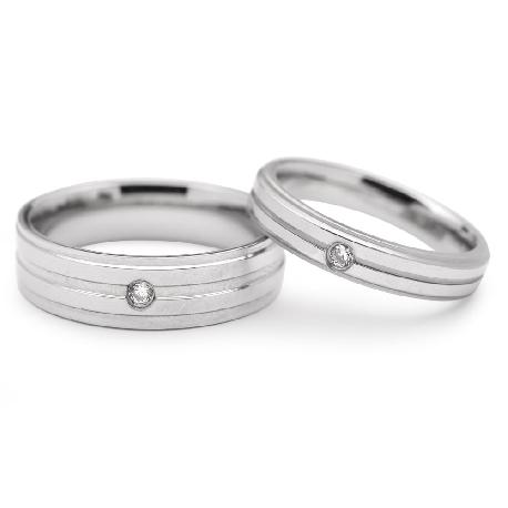 """Teemantidega abielusõrmused """"VMA 113"""""""