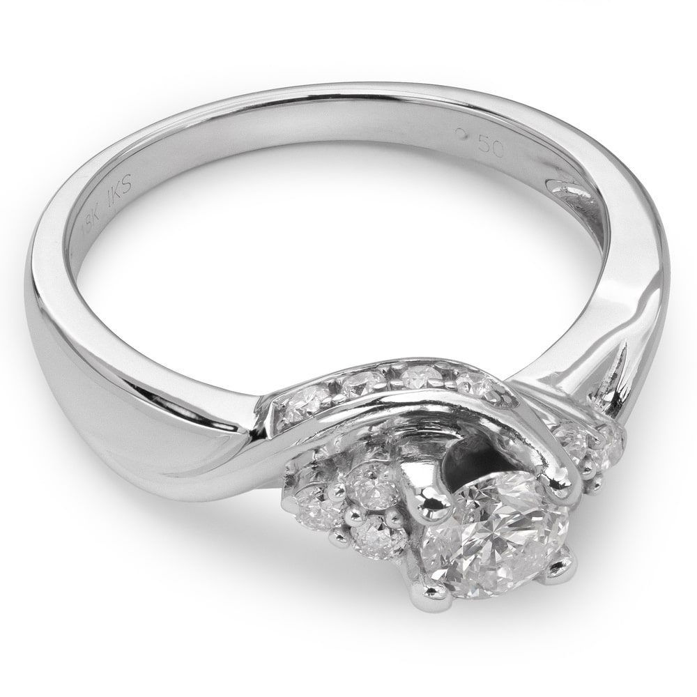 """Engagment ring with brilliants """"Diamond flower 14"""""""