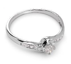 """Sužadėtuvių žiedas su Briliantais """"Grakštumas 6"""""""