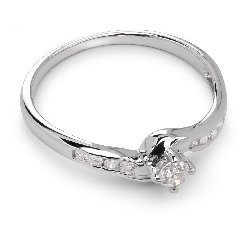 "Engagment ring with brilliants ""Grace 6"""