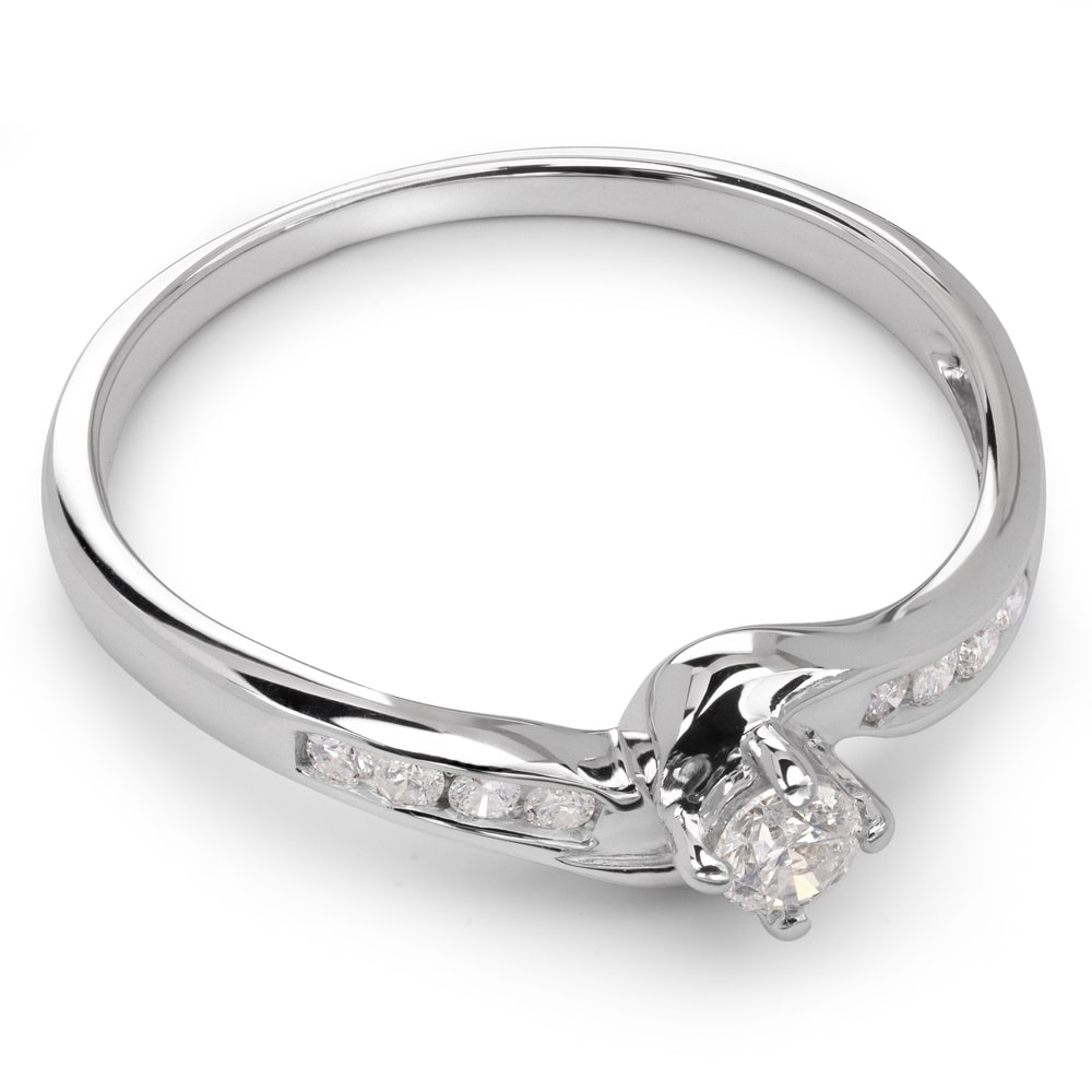 """Engagment ring with brilliants """"Grace 6"""""""