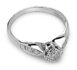 "Engagment ring with brilliants ""Grace 7"""