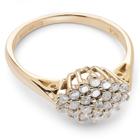 "Briljantidega kuldsõrmus ""Briljantlill 15"""