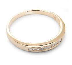 """Auksinis žiedas su Briliantais """"Deimantinė Juostelė 16"""""""