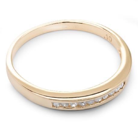 """Briljantidega kuldsõrmus """"Teemantidega lint 16"""""""
