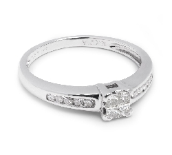 "Engagement ring with diamonds ""Princesses 15"""