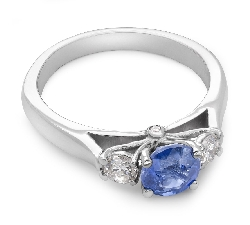 "Engagement ring with gemstones ""Unforgettable 3"""
