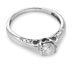 """Sužadėtuvių žiedas su Briliantais """"Grakštumas 32"""""""