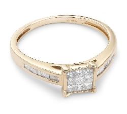 """Sužadėtuvių žiedas su Briliantais """"Princesės 19"""""""