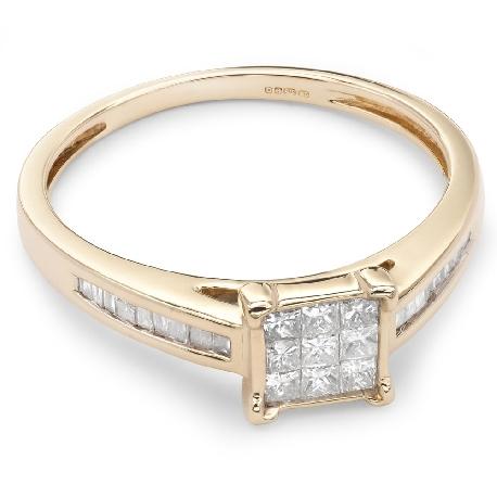 """Teemantidega kihlasõrmus """"Printsessid 19"""""""