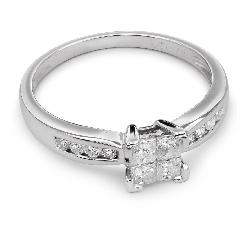 """Sužadėtuvių žiedas su Deimantais """"Princesės 20"""""""