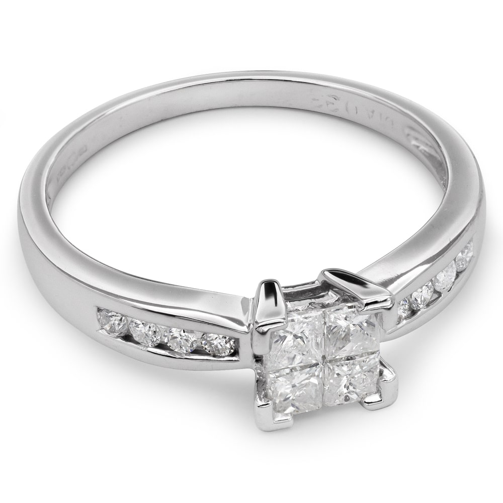 """Engagement ring with diamonds """"Princesses 20"""""""