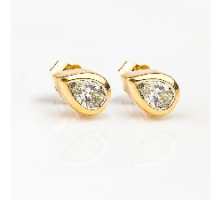 "Gold earrings with diamonds ""Classic 44"""