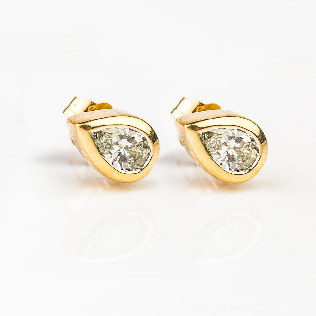 """Teemantidega kullast kõrvarõngad """"Klassikud 44"""""""