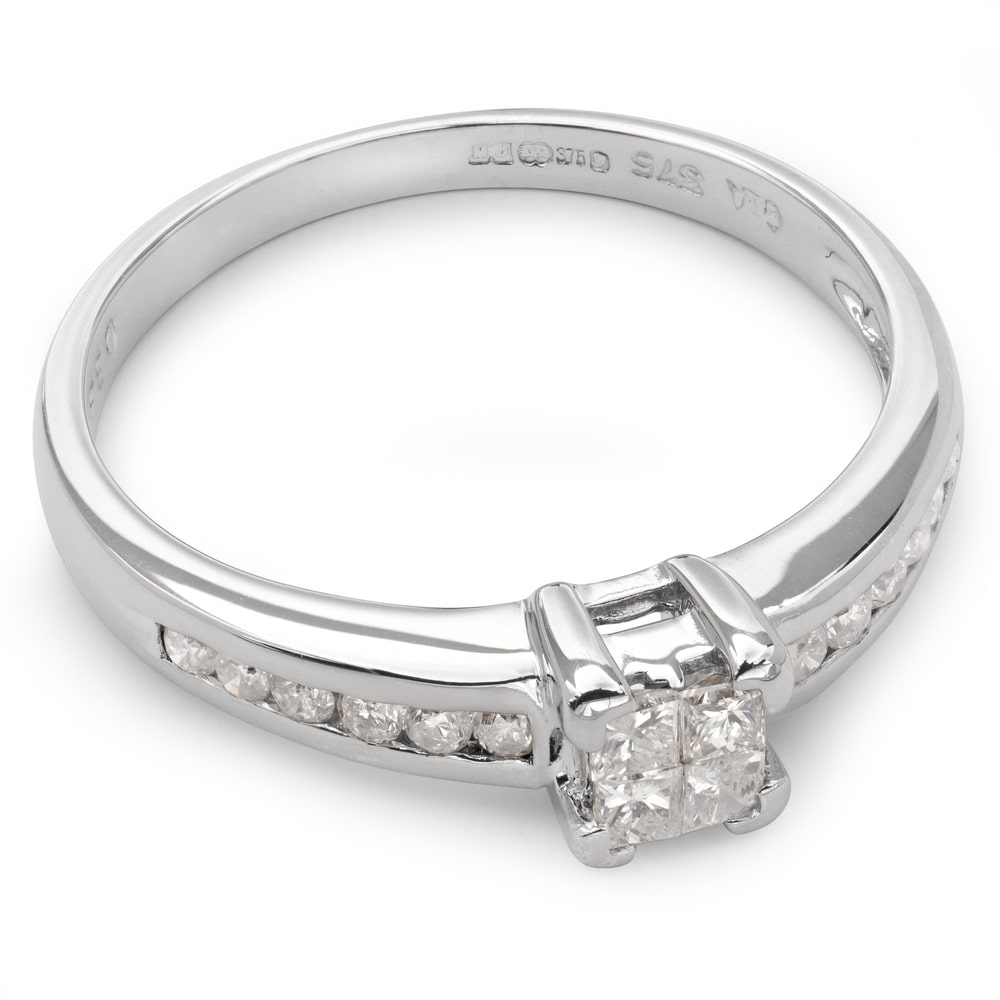 """Engagement ring with diamonds """"Princesses 21"""""""