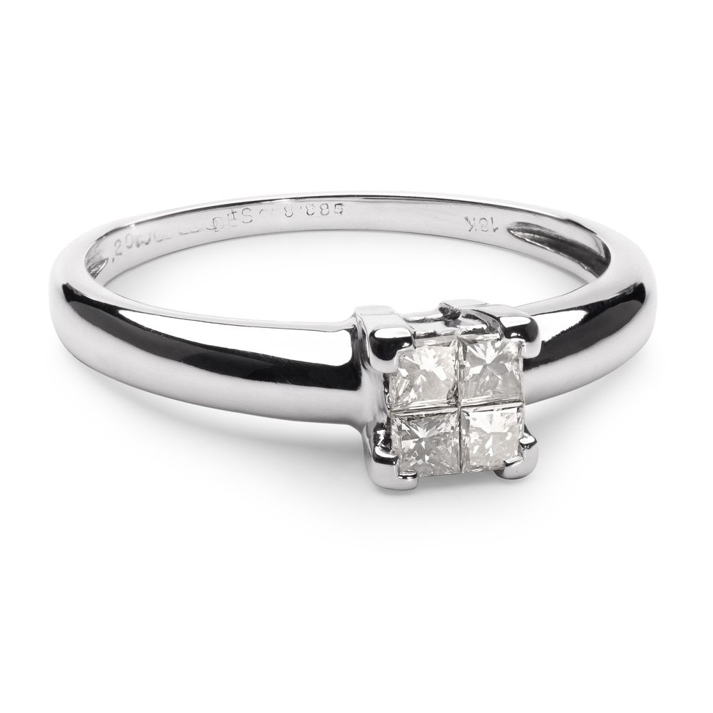 "Engagement ring with diamonds ""Princesses 24"""